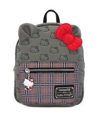 Loungefly Loungefly Hello Kitty | Grey Kitty (Kariert) Mini Rucksack