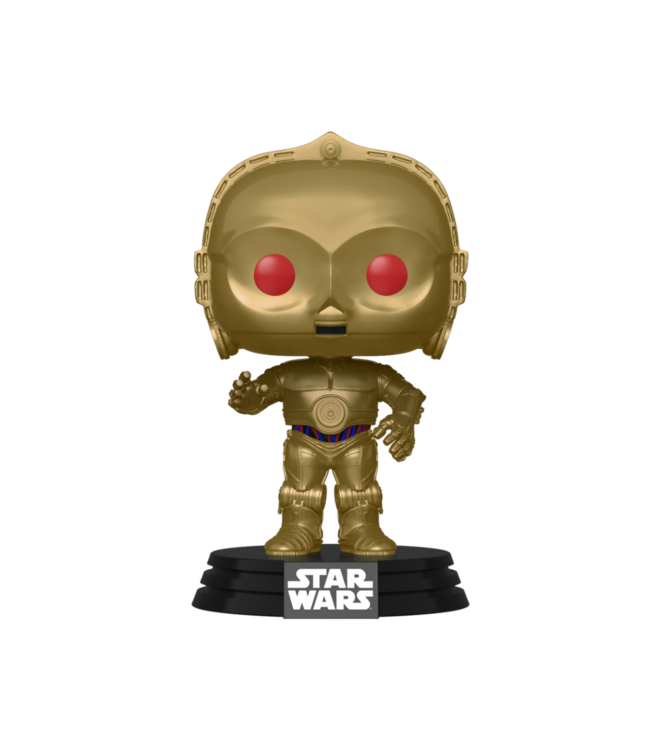Funko Star Wars | Red Eyes C-3PO (Metallic) Funko Pop Vinyl Figur