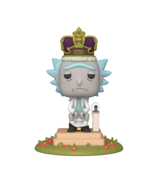 Funko Rick and Morty | King of $#!+ Funko Pop Deluxe Figur