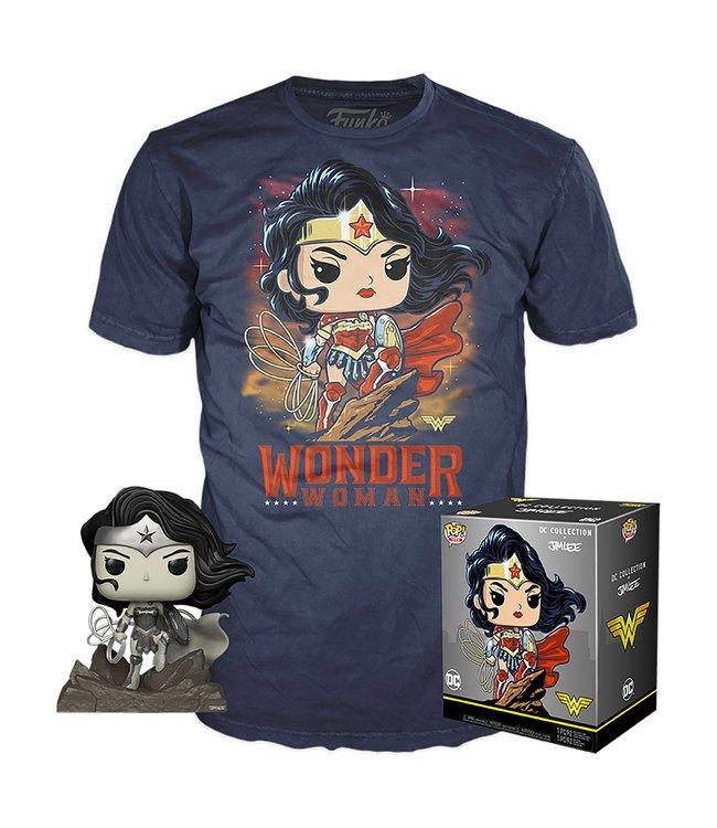 Funko Jim Lee x DC Collection | Wonder Woman (Exc) Funko Pop Figur & T-Shirt