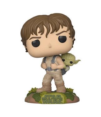 Funko Vorbestellung   Star Wars - Luke with Yoda Funko Pop Figur