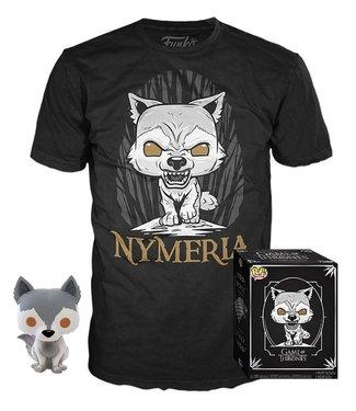 Funko Game of Thrones | Nymeria (Exc) Funko Pop Figur & T-Shirt