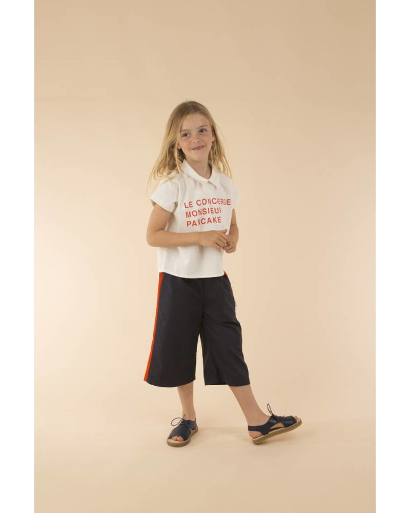 Tiny Cottons Solid wv cool pant - navy/carmin