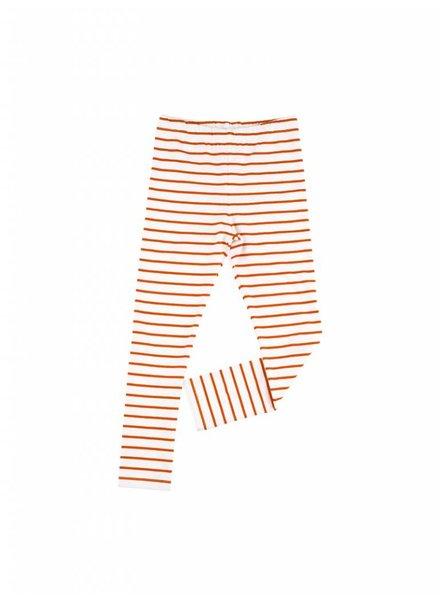 Tiny Cottons Small Stripes Pant - off white/carmin