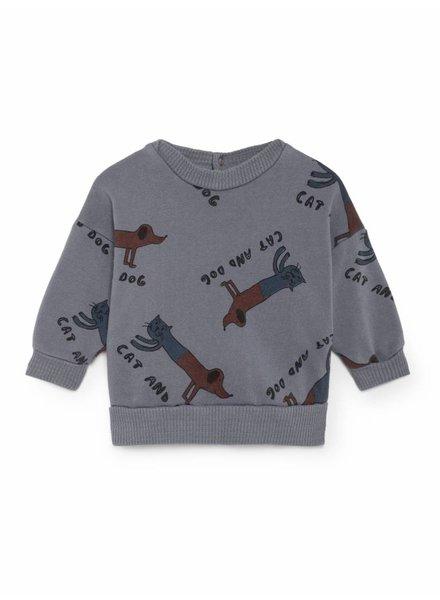 BOBO CHOSES Cats And Dog Round Neck Sweatshirt
