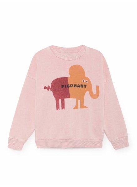 BOBO CHOSES Pigphant Round Neck Sweatshirt