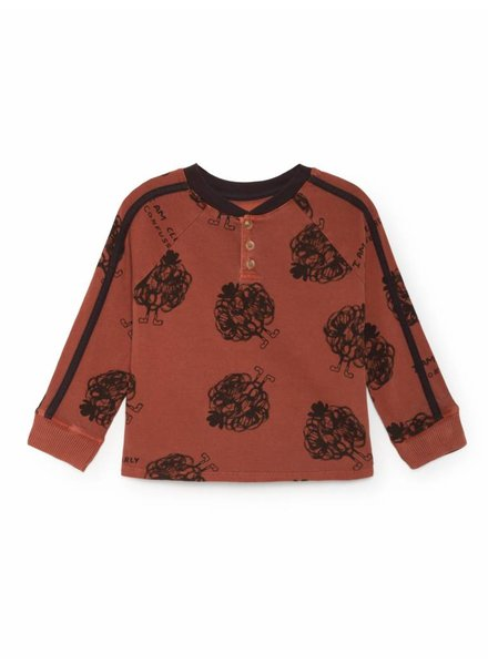 BOBO CHOSES Clearly Confused Buttons T-Shirt - Burnt