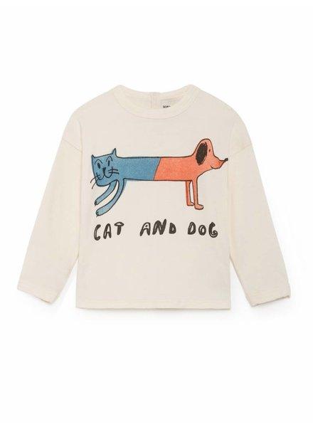 BOBO CHOSES Cat And Dog Round Neck T-Shirt