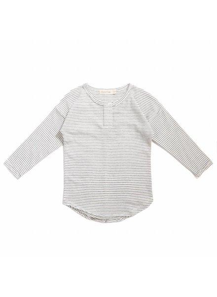 Phil & Phae Henley top stripe - Vanilla stripe