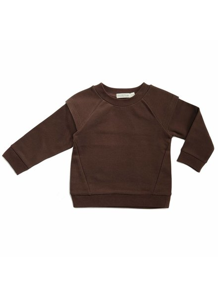 Phil & Phae Epaulette sweater - cocoa