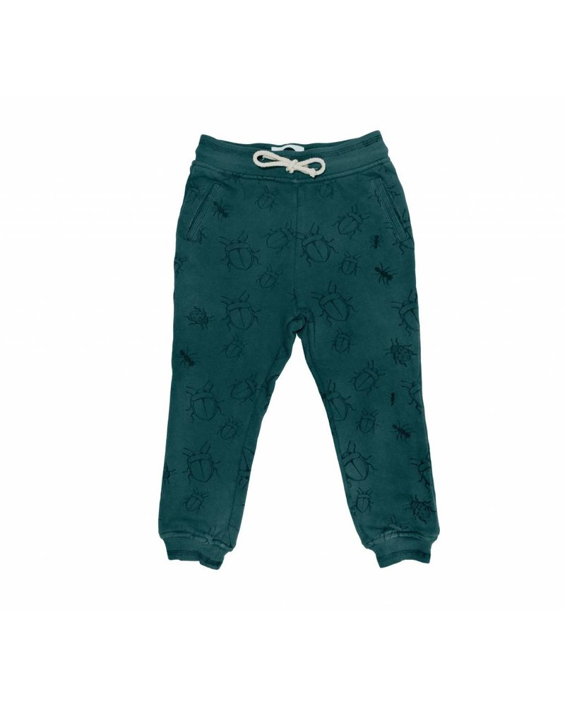 Sproet & Sprout Sweat Pants Bugs Allover Dark Forrest Green