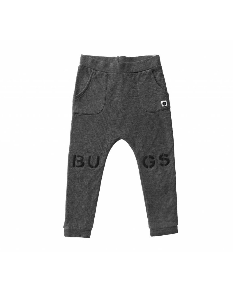 Sproet & Sprout Sweat Pants Bugs at knees Dark Grey Melee