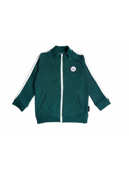 Sproet & Sprout Sweat cardigan Marshmallow Lovers Badge Dark Forrest Green