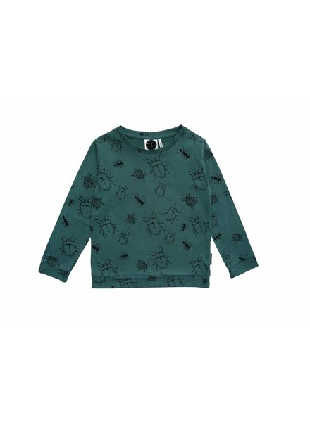Sproet & Sprout T-Shirt Longsleeve Bugs Allover Forest Green