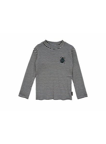 Sproet & Sprout ! T-Shirt Turtle Neck Beetle Black & Milk Stripe