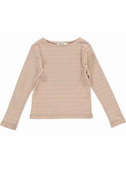MarMar Copenhagen Theodora T-Shirt Terracotta/Sand/Gold Stripes