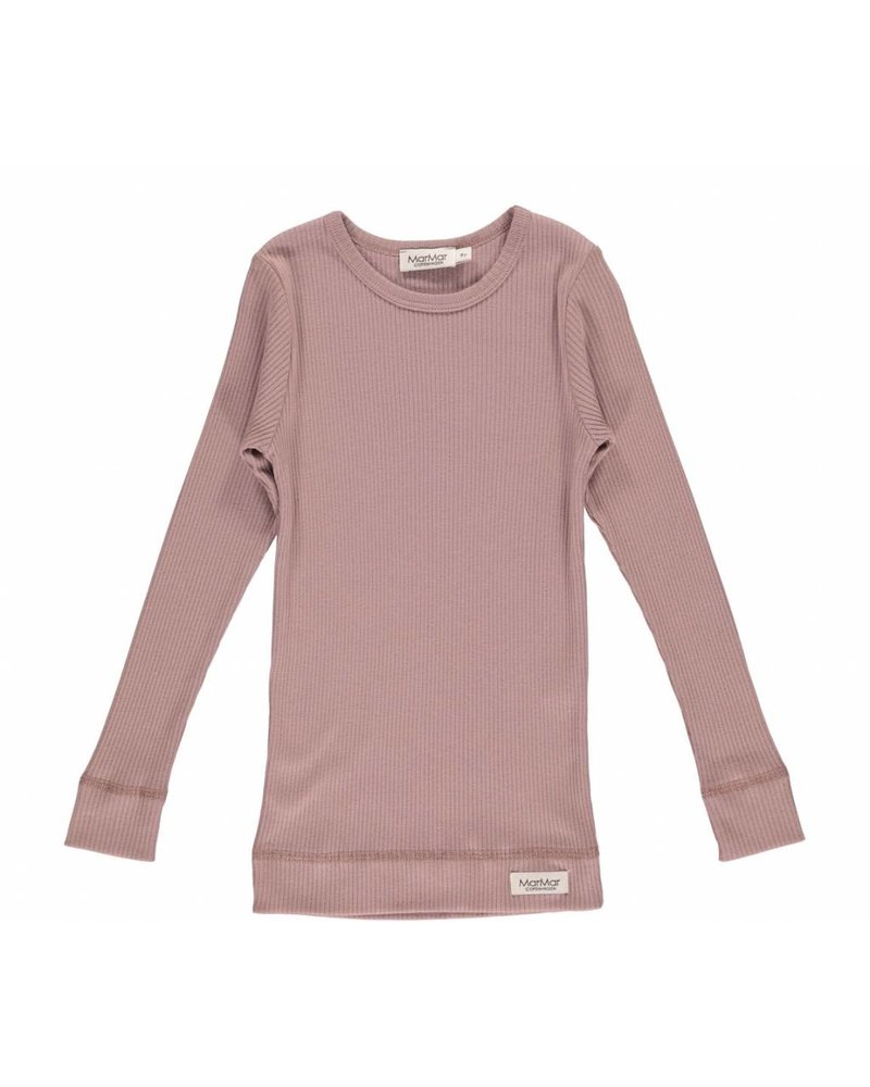 MarMar Copenhagen T-Shirt Plain Tee LS Rose Nut