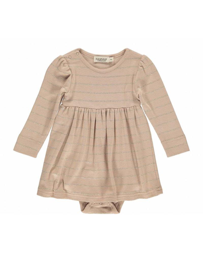 MarMar Copenhagen Ramona Dress Terracotta/Sand/Gold Stripes