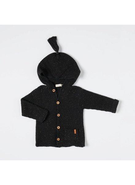 NIXNUT Hoodie Vest Black Speckle