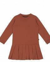 House of Jamie Pleated Dress Rust