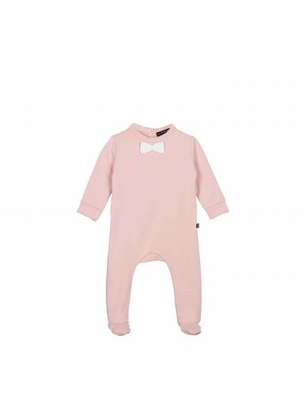 House of Jamie Bow Tie Babysuit Powder Pink