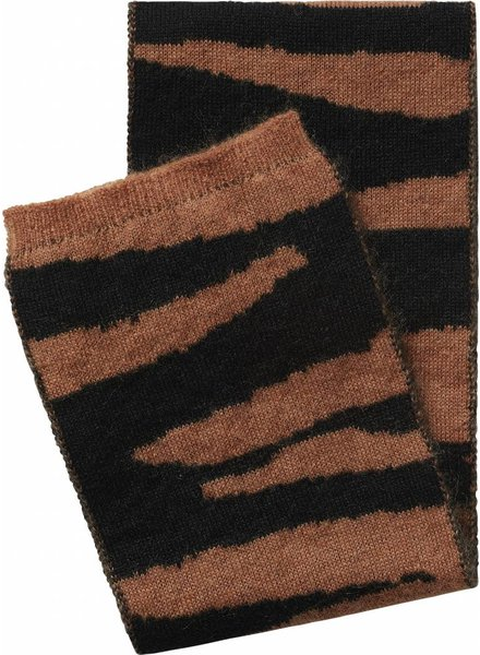 Maed For Mini Knit Scarf Brown Tiger