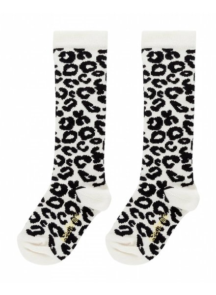 Maed For Mini Knee Socks White Leopard