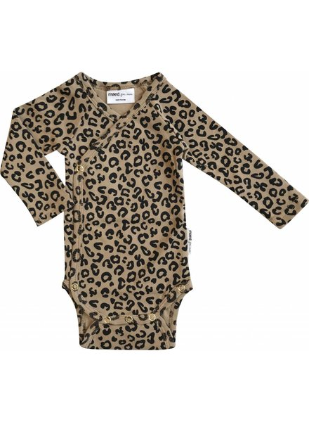 Maed For Mini Wrap Body Brown Leopard AOP