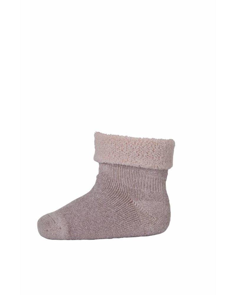 MP Denmark Baby Socks Merino Wool Dusty Pink / Lurex