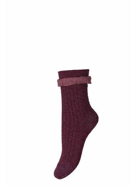 MP Denmark Socks Ankle Ashley Bordeaux Glitter