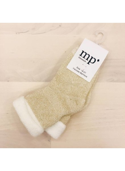 MP Denmark Baby Socks Bambo Terry - Off white / gold lurex