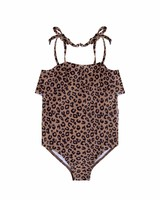 Maed For Mini Brown Leopard Swim Suit