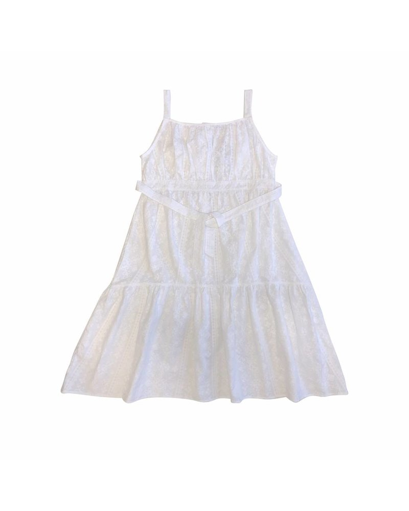 Maed For Mini Frosty Fox Embroidered Long Summerdress