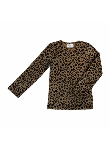 Maed For Mini Brown Leopard LS T-Shirt