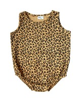 Maed For Mini Yellow Leopard Sleeveless Bodysuit