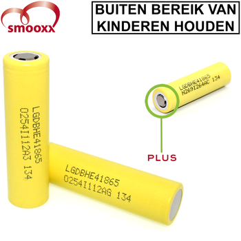LG HE4 2500mAh 18650 Batterij