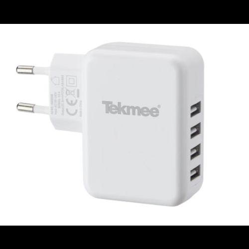 Tekmee - 4.8A  4x Usb Oplader