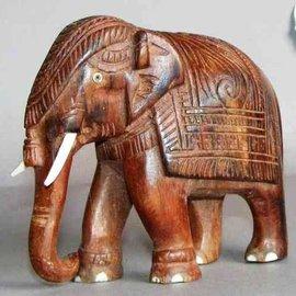 Elefant aus Ostindisch Palisander, 125 mm