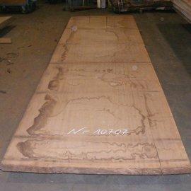 Afzelia Tischplatte, 450 x 127 x 0,55 cm, künstlich getrocknet, besäumt