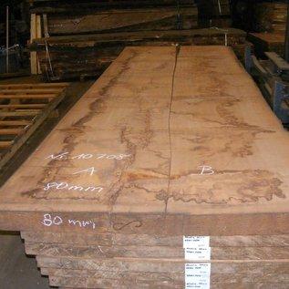 Afzelia - Doussie, tabletop, 450 x 68/69 x 0,80 cm, kiln dried, both sides cut