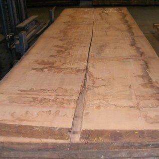 Afzelia Tischplatte, 450 x 68/69 x 8,0 cm, künstlich getrocknet, besäumt