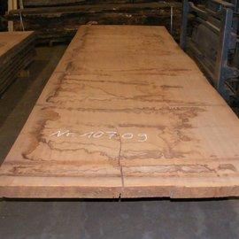 Afzelia Tischplatte, 450 x 135 x 5,5 cm, künstlich getrocknet, besäumt