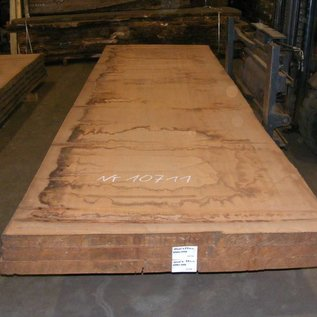 Afzelia Tischplatte, 450 x 131 x 5,5 cm, künstlich getrocknet, besäumt