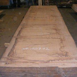 Afzelia  Tischplatte, 450 x 128 x 5,5 cm, künstlich getrocknet, besäumt