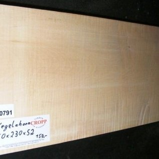 Sycamore, fiddleback, Guitar-Body, 550 x 230 x 52 mm, 4,8 kg