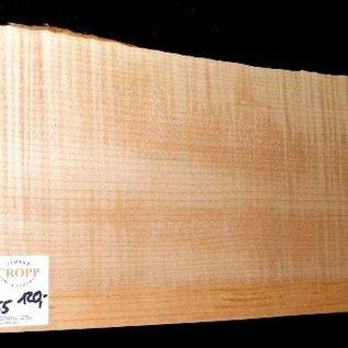 Soft Maple, fiddleback, guitar body, 550 x 205 x 55 mm, 3,5 kg