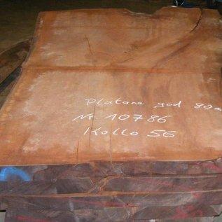 Platane Tischplatte, gedämpft, 2800 x 1920/1300 x 80 mm, ca. 280 kg