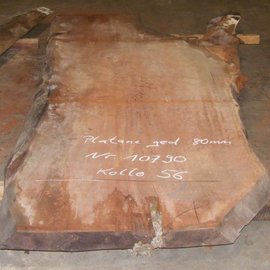 Platane Tischplatte, gedämpft, 2800 x 1670/1100 x 80 mm