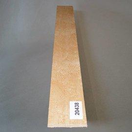 VOGELAUGENAHORN, Griffbrett, 520 x 70 x 10 mm, 0,4 kg, künstlich getrocknet