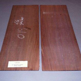 Ostindisch Palisander, Western Böden ca. 600 x 220 x 5 mm, 1kg, spiegelbildlich